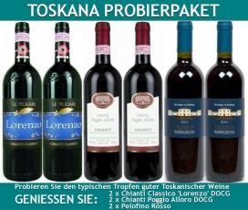 Probierpaket Toskana  6 Flaschen